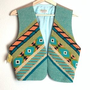 NWT Beautiful hand embroidered vest